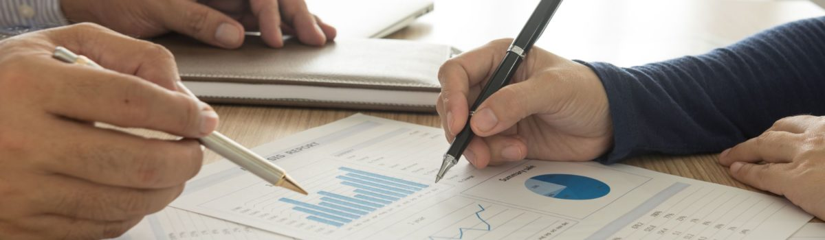 46989473 - manager analyze financial numbers to view the performance of the company.